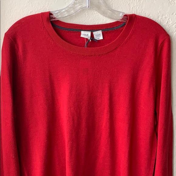 3ceba4e0a55cd7 GAP Sweaters | Crewneck Sweater In Merino Wool Red Apple | Poshmark